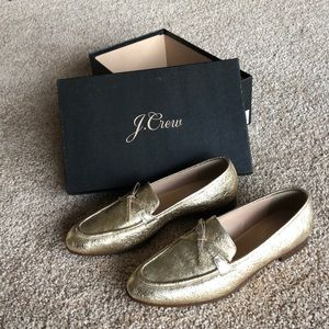 J.Crew Academy loafers in metallic leather